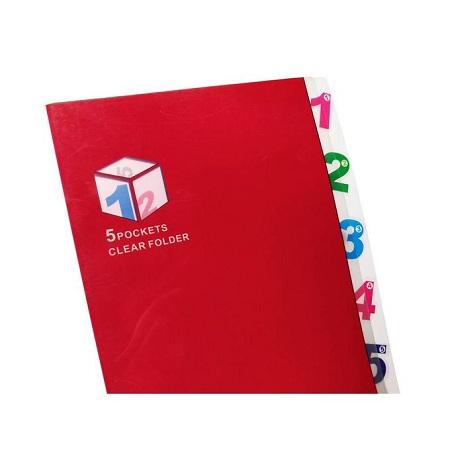 Essentials Five-Pocket Folder/CY1688 (RED)