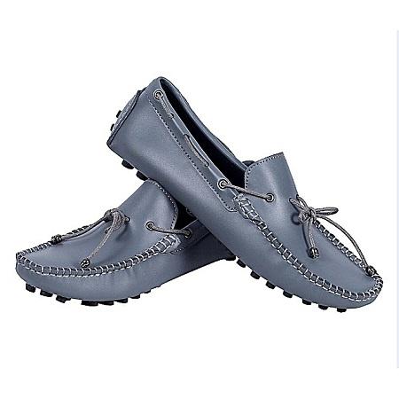 Ethan's Wear World Grey Men's Loafers