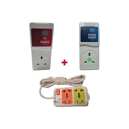 MK Electronics Fridge Guard , Tv guard & 4Way power Extension Cable