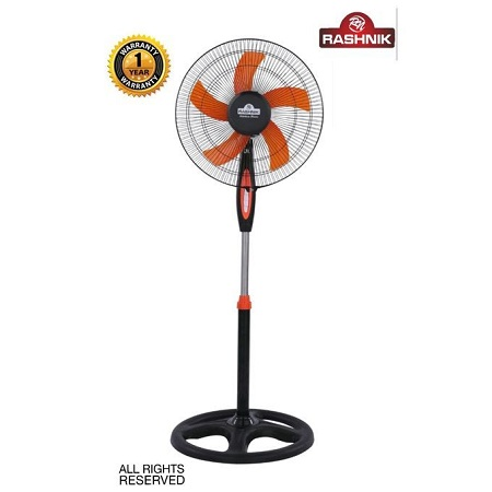 Rashnik 16'' Inch Stand Fan - Black & Orange
