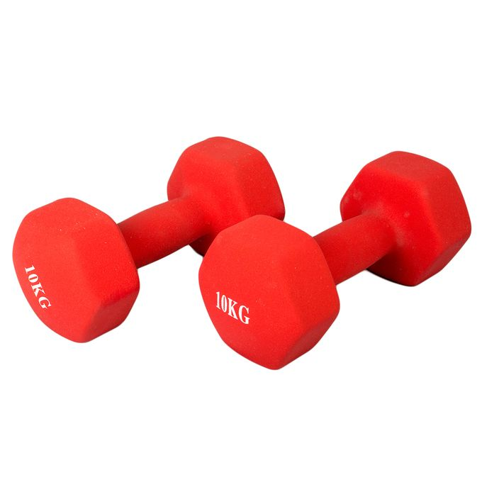 Generic Neoprene Coated Dumbbell 10kg - Red