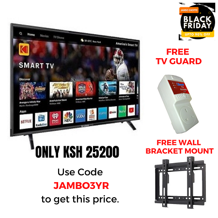 Vitron 43 Inch TV SMART With Free TV Guard & Wall Bracket