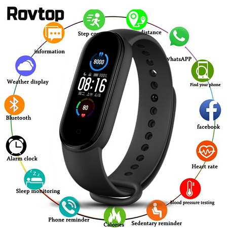M5 Smart Watch Heart Rate Monitor For IOS Android