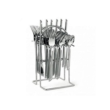 24 pcs Stainless Steel Cutlery Set Cutlery + Rack.
