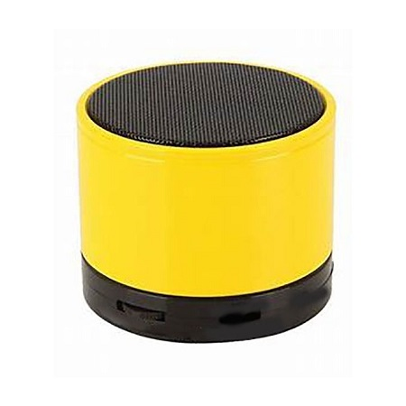 Generic Mini Bluetooth Wireless Stereo Speakers FM, Memory Card, Bluetooth, USB - Yellow.
