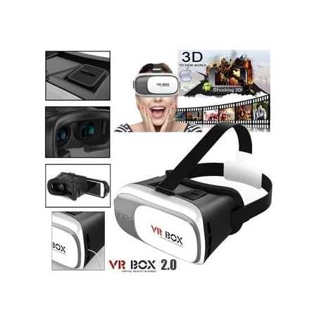 VR Box VR Headset Virtual Reality VR BOX Goggles 3D Glasses Google Vr Box Virtual Reality Glasses VRBox Kit - White & Black