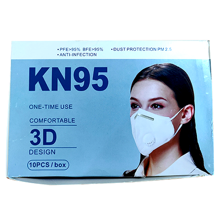 KN95 Folding Respirator Mask - 10pcs