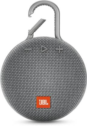 JBL CLIP 3 Portable Bluetooth Speaker  (Grey, Stereo Channel)