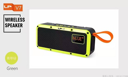 LP-V7 Wireless Bluetooth Speaker Portable Outdoor Support TWS Stereo High Power Subwoofer