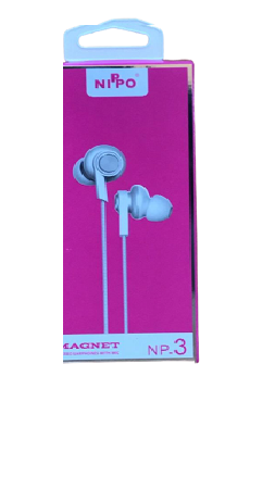 Nippo NP- 3 Magnet Stereo Earphones With Mic