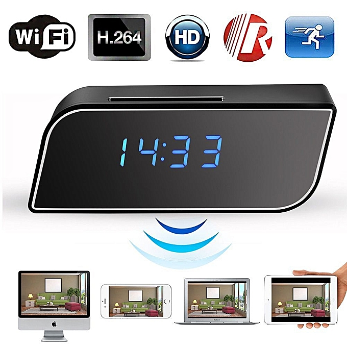 Generic Table Clock WiFi Camera, Nanny Camera, Spy Camera.