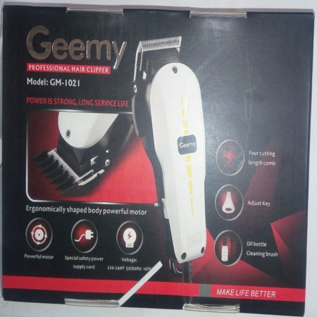 Geemy Professional Electric Hair Clipper Hair Shaver Kinyozi