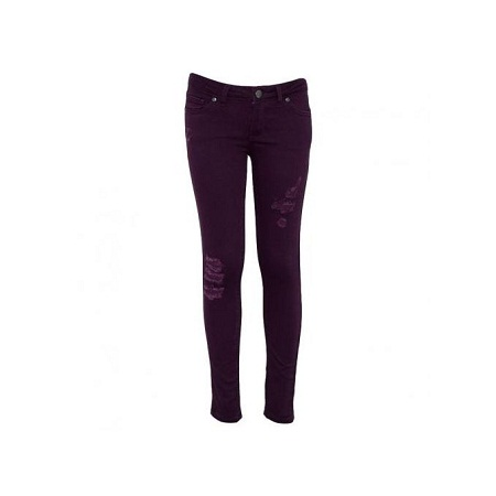 Forever Young Purple Girls Destroyed Skinny Pants