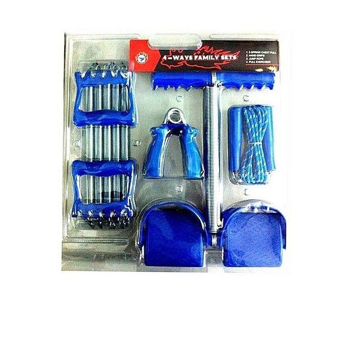 Generic 4 Way Family Exercise Set - Blue