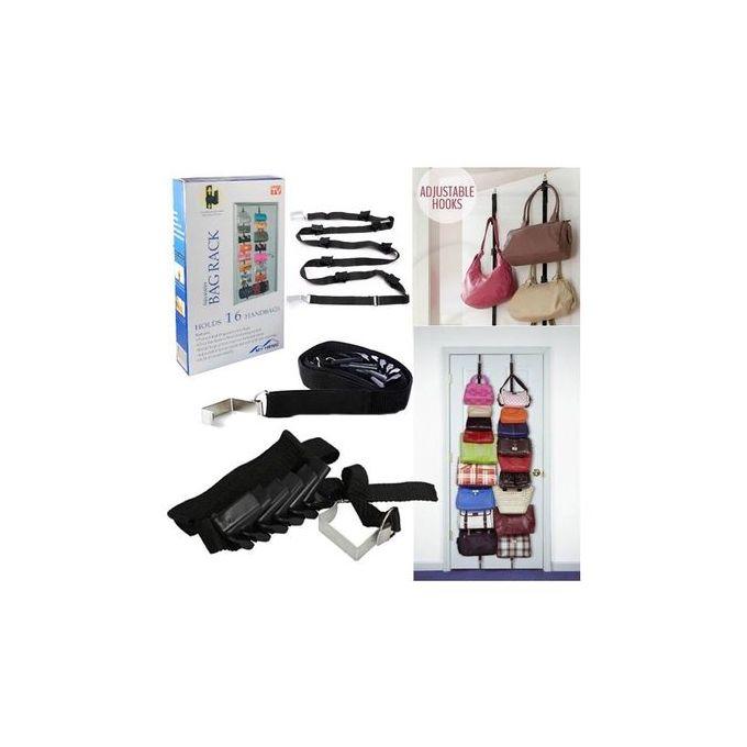 Generic Adjustable Bag Rack - Holds 16 Bags - Black
