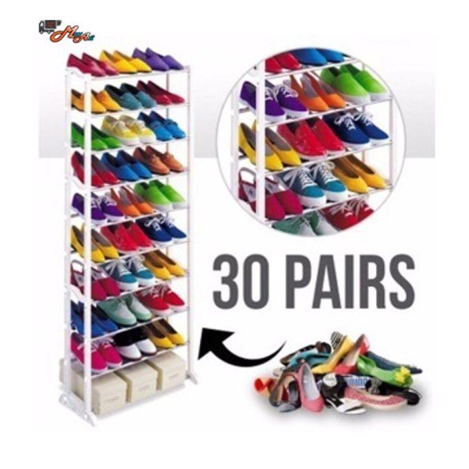 Generic Amazing 10 Layer Shoe Rack For 30 Pairs