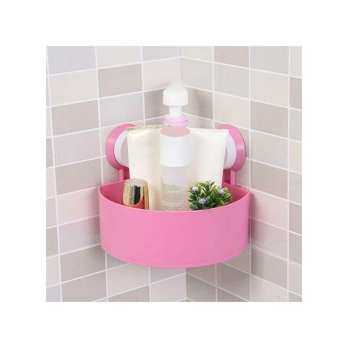 Generic Bathroom Corner Storage Rack Organizer Shower Shelf - pink