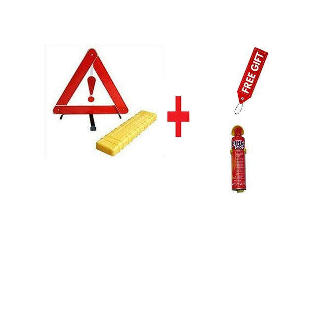 Generic Emergency Warning Triangle - Red
