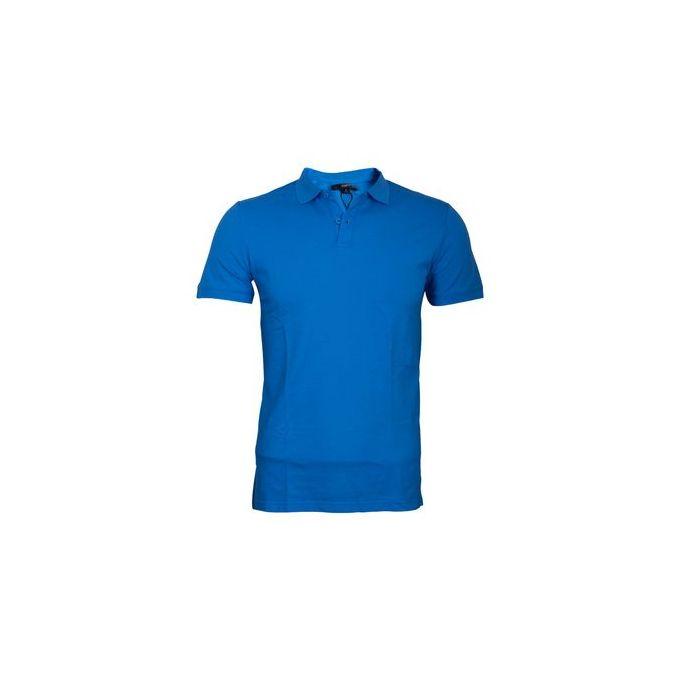 Fashion Blue Fashionable Slim Fit Polo