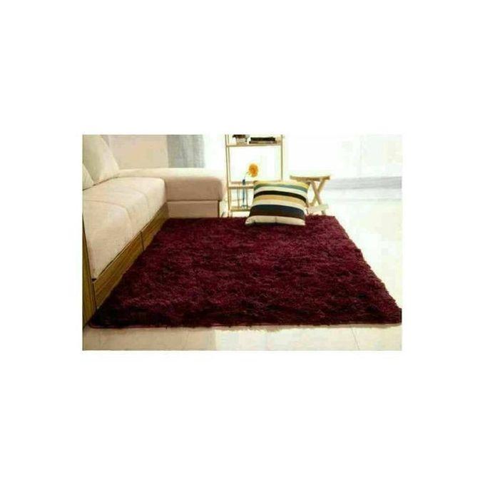 Fluffy Carpets 5*8 maroon