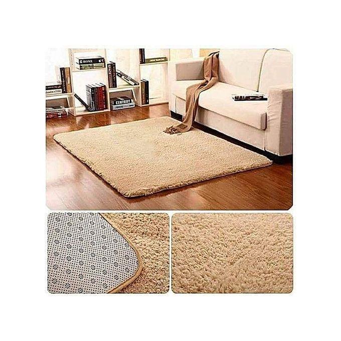 Generic Fluffy Smooth Carpet 5 by 8 - Orange