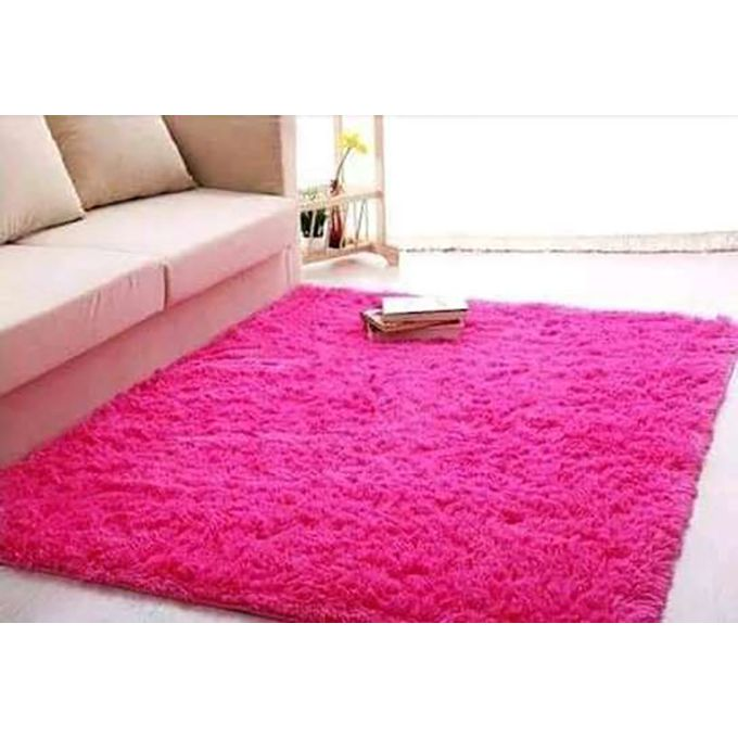 Generic Fluffy Smooth Carpet For Living Room 5 by 8 - PInk