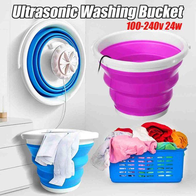 Generic Portable Mini Ultrasonic Clothes Washing Machine - Blue,Pink
