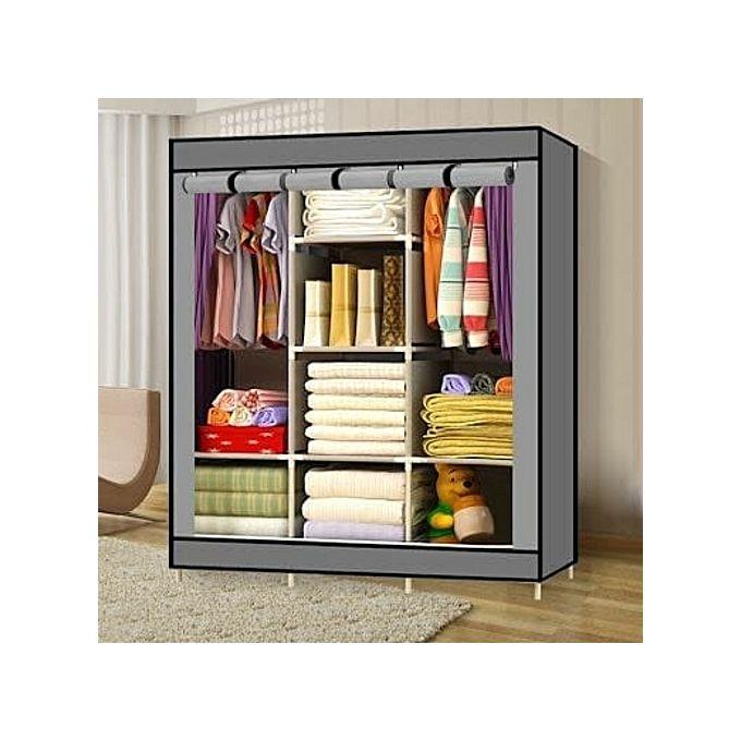 Generic Portable Wardrobe - 3 Columns - 130*170*45 -