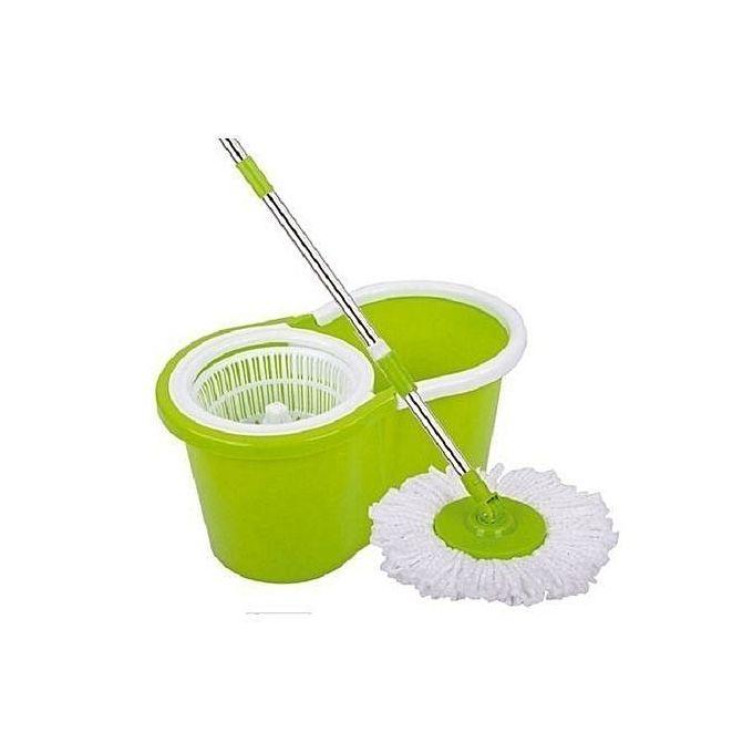 Generic Spin Mop & Bucket Set - Green