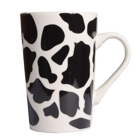 Tea Mug - Set of 6 - White & Black