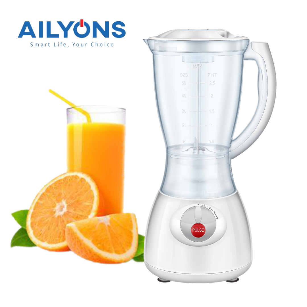 AILYONS 1.5L 2 In 1 Quality Motor Stainless Steel Blender With Grinder FY-Y44 White