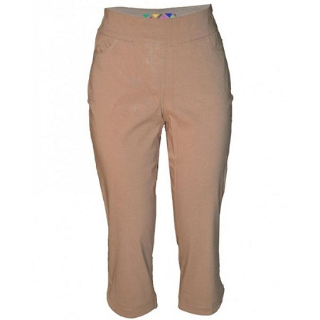 Forever Young Beige Womens Capri Pants