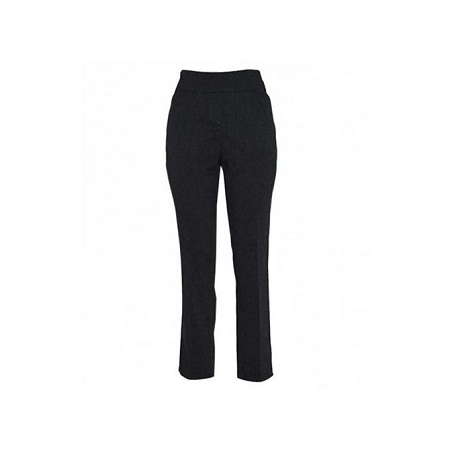 Forever Young Grey Straight Leg Pull On Womens Classic Pants
