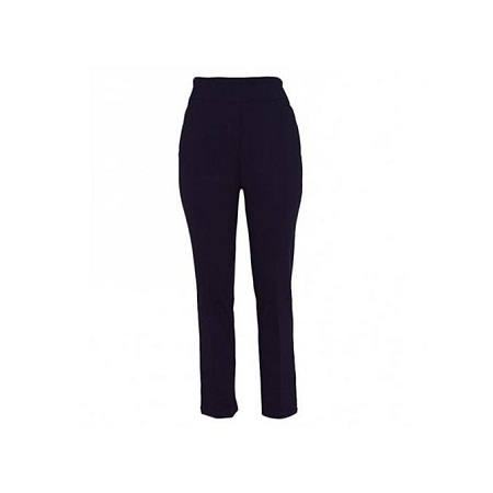 Forever Young Dark Purple Straight Leg Pull On Womens Classic Pants