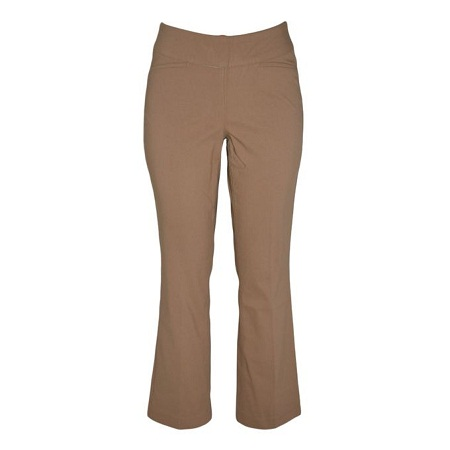 Forever Young Toffee Flared Leg Pull On Classic Pants