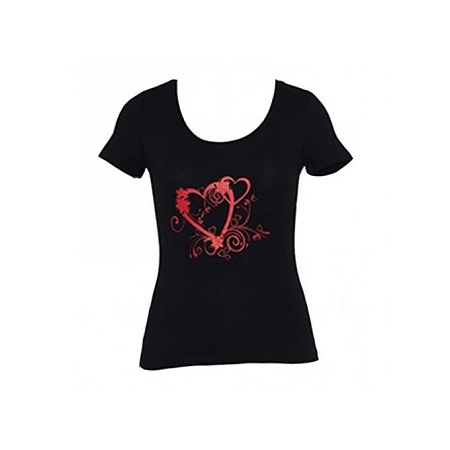 Forever Young Black Printed Womens Tops
