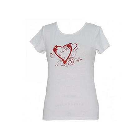 Forever Young White Printed Womens Tops