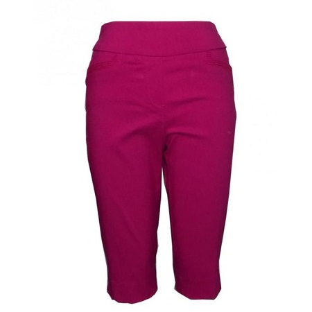 Forever Young Bright Berry - Ladies Pull On Capri