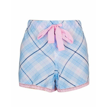 Forever Young Blue Pink With Multi Stripe Print Sleep Wear Boxer Short