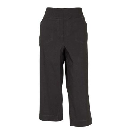 Forever Young Black Woven Capri Pants