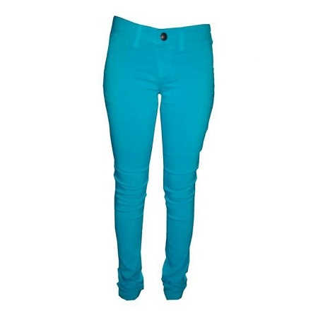 Forever Young Stretchy Skinny Trousers in Lt Turquoise