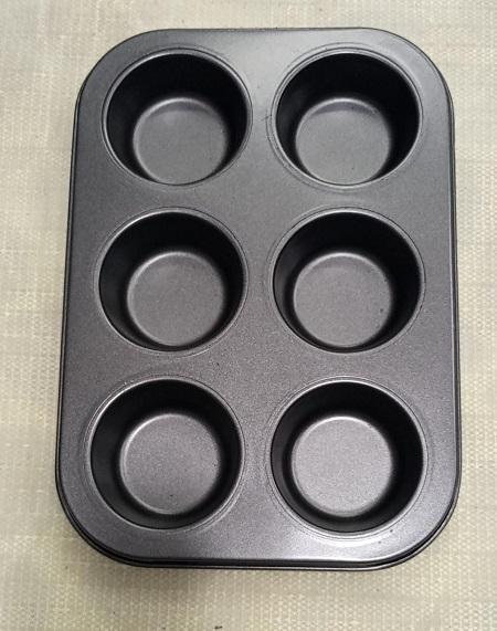 6 pc Cupcake Baking Tin