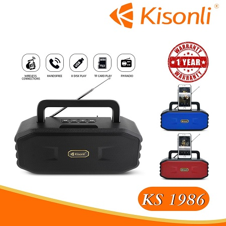 KS-1986 Portable Wireless Bluetooth Speaker
