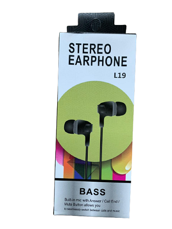 L19 Stereo earphones