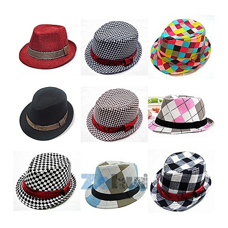 Fashion Jazz Fedora Cowboy Hat/Cap - [Random Colour Delivery]