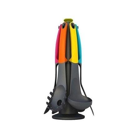 Generic 6 Piece - Non-Stick Cooking Spoons Set - Multi-colour