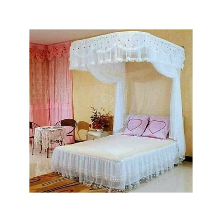 2 Stand Mosquito Net without Rail 5 by 6 - White
