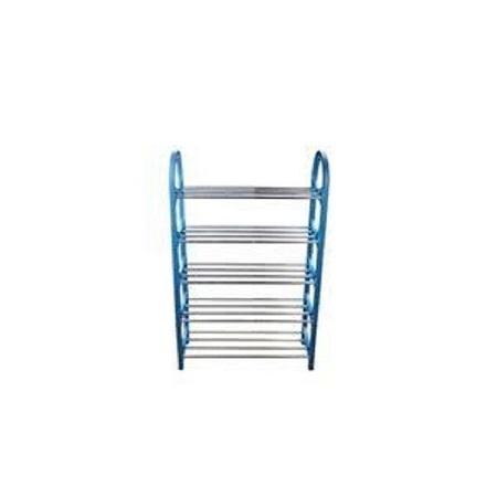 5 Layer Portable Foldable Shoe Rack - Blue
