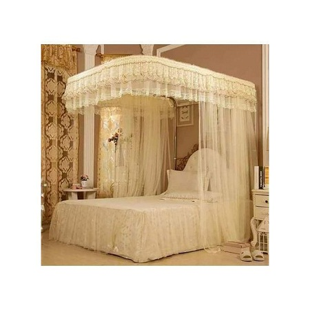 2 Stand Mosquito Net without Rail 5 by 6 - Cream