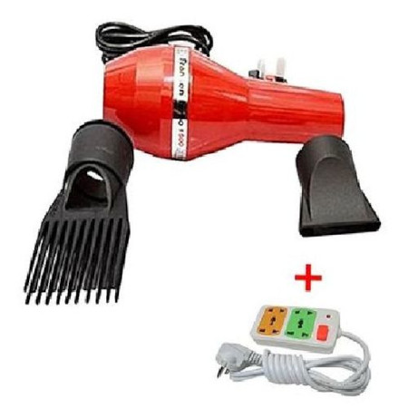 Fransen Blow Dryer With FREE 4-Way Socket Extension Cable - Red